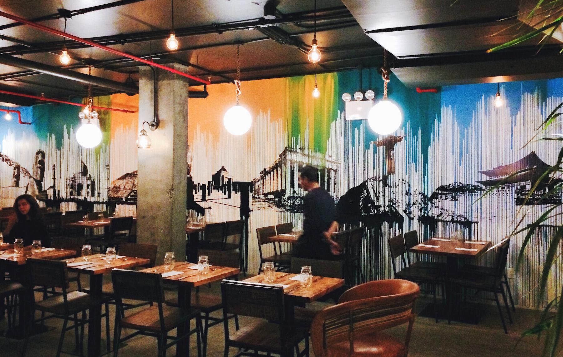 streets bk restaurant mural varenka ruiz