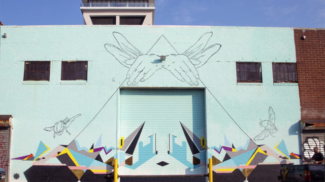 Flying Hands Mural